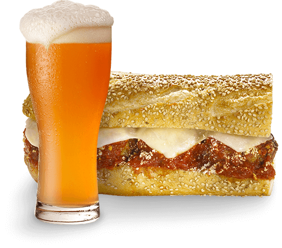 beer and hoagie